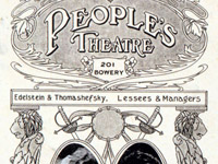 The People's Theatre Masthead